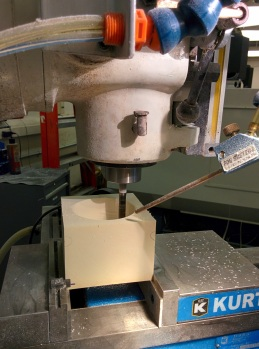 CNC Milling our molds to create the skin that went over Dom-- made out of butterboard
